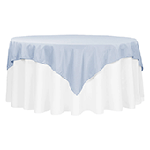 "72"" Square 200 GSM Polyester Tablecloth / Overlay - Dusty Blue"