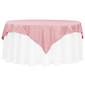 "72"" Square 200 GSM Polyester Tablecloth / Overlay - Dusty Rose/Mauve"