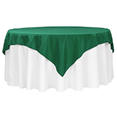 "72"" Square 200 GSM Polyester Tablecloth / Overlay - Emerald Green"