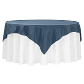 "72"" Square 200 GSM Polyester Tablecloth / Overlay - Navy Blue"