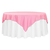 "72"" Square 200 GSM Polyester Tablecloth / Overlay - Pink"