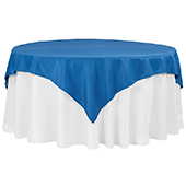 "72"" Square 200 GSM Polyester Tablecloth / Overlay - Royal Blue"