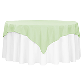 "72"" Square 200 GSM Polyester Tablecloth / Overlay - Sage Green"