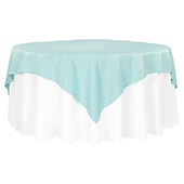 "72"" Square 200 GSM Polyester Tablecloth / Overlay - Turquoise"