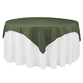 "72"" Square 200 GSM Polyester Tablecloth / Overlay - Willow"
