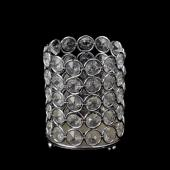 "Decostar™ Crystal Gem Pillar Votive Candle Holder 4 3/8"" - Silver"