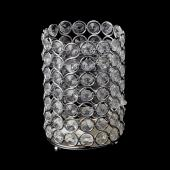 "Decostar™ Crystal Gem Pillar Votive Candle Holder 6"" - Silver"