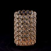 "Decostar™ Crystal Gem Pillar Votive Candle Holder 6""  - Gold"