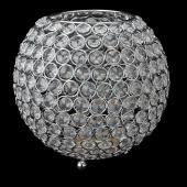 "Decostar™ Crystal Ball Votive Candle Holder 10"" - Silver"