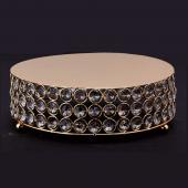 "Decostar™ Crystal Round Cake Stand 10"" - Gold"