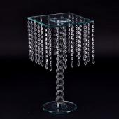 Decostar™ Chandelier Real Glass Crystal Cake Stands Cascading 18½