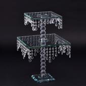 Decostar™ Chandelier Real Glass Crystal Cake Stands Cascading