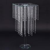 Decostar™ Crystal Beaded 2-Tier Clear Glass Cake Stand 27""