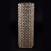 "Decostar™ Crystal Gem Pillar Votive Candle Holder 16½"" - Gold"
