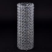 "Decostar™ Crystal Gem Pillar Votive Candle Holder 16½"" - Silver"