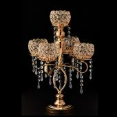 Decostar™ Crystal Candelabra 4 arm - Gold