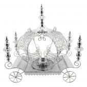 Decostar™ Crystal Pumpkin Carriage Candle Holder 23½