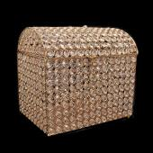 "Decostar™ Gold Crystal Money / Ticket Box - 12"" x 9"" x 11"""