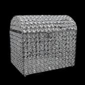 "Decostar™ Silver Crystal Money / Ticket Box - 12"" x 9"" x 11"""