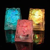 Decostar™ Ice Cubes with Flashing Multi Colored Lights - 144 Pieces