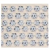 Decostar™ Rhinestone Trimming - White - 10 Yards - 12 Pieces