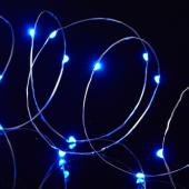 "Decostar™ LED Fairy Wire Lights Waterproof - 91"" Long - 24 Strands - Blue"
