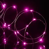 "Decostar™ LED Fairy Wire Lights Waterproof - 91"" Long - 24 Strands - Fuchsia"