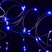 "Decostar™ LED Fairy Wire Lights Waterproof - 91"" Long - 24 Strands - Purple"