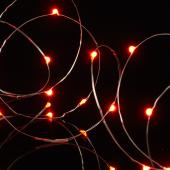 "Decostar™ LED Fairy Wire Lights Waterproof - 91"" Long - 24 Strands - Red"
