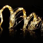 "Decostar™ Warm White LED String Wire Lights w/ 200 Lights - 144"" Long"