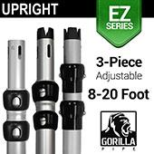 EZ Series - 3-Piece Adjustable Upright w/Slip-Lock (8ft-20ft)
