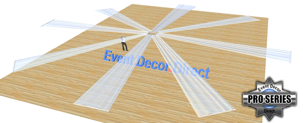 8-Panel 30ft Ceiling Draping Kit