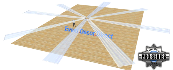 8-Panel 40ft Ceiling Draping Kit