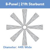 8-Panel Starburst 21ft Ceiling Draping Kit (44 Feet Wide)