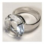 "Decostar™ Crystal Napkin Ring Holder 1½"" - 12 Pieces"