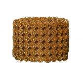 DECOSTAR™ Diamond Flower Shape Mesh Roll - Rose Gold