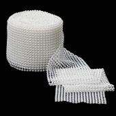 Decostar™ Pearl Mesh Flat Back Roll 6mm - White