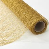 "Decorative Mesh Roll - 19"" x 5 yards - Gold"