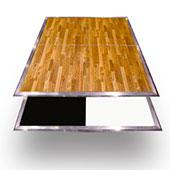 8ft by 8ft Premium Laminate Wood Dance Floor - Portable with Aluminum Side Paneling - Variety of Finishes