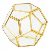 DECOSTAR™ 4in Geometric Terrarium Display  - Gold