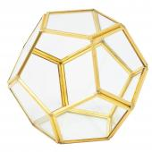 DECOSTAR™ 4.5in Geometric Terrarium Display - Gold