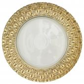 "Glass Charger Plate 13"" - Gold - 8 Pieces"