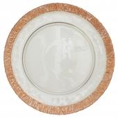 "Glass Charger Plate 13"" - Rose Gold - 8 Pieces"