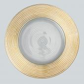 "Decostar™ Glass Charger Plate 13"" - 8 Pieces- Gold"