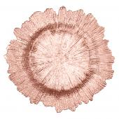 Decostar™ Glass Charger Plate 13½ - 8 Pieces- Rose Gold