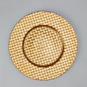 "Decostar™ Glass Charger Plate 13""- 8 Pieces - Gold"
