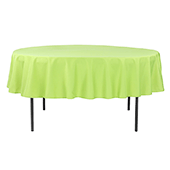 "90"" Round 200 GSM Polyester Tablecloth - Apple Green"