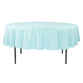 "90"" Round 200 GSM Polyester Tablecloth - Baby Blue"