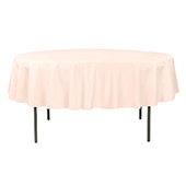 "90"" Round 200 GSM Polyester Tablecloth - Blush"