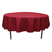 "90"" Round 200 GSM Polyester Tablecloth - Burgundy"
